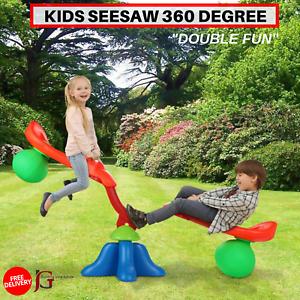 360 Degree Quad 2-4 Kids Seesaw Children Outdoor Yard Entertainment Toy Play Set