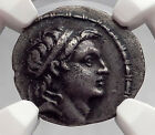 DEMETRIOS I Soter 152BC Seleukid Apollo Ancient Silver Greek Coin NGC i59987