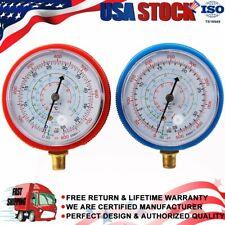 High Amp Low Pressure Gauge Set R134a R22 R404a R410a Refrigerant Pressure Gauge