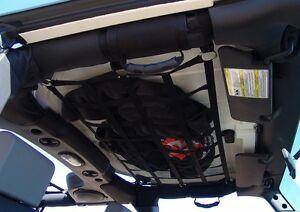 Jeep Wrangler Jl Jk Tj Yj Cargo Net Back Window Extra Storage Roof