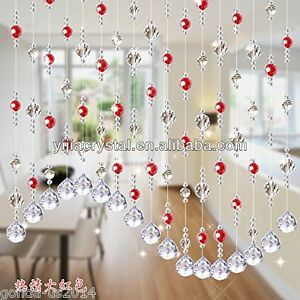Amazing Image Is Loading Acrylic Bead Red Crystal Bead Curtain Door Partition
