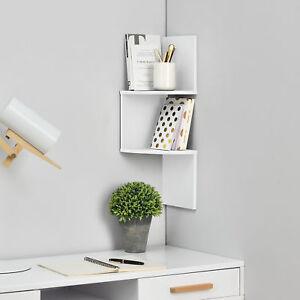 en-casa-Etagere-mural-suspendre-etagere-coin-etagere-de-livre-Zigzag-blanc