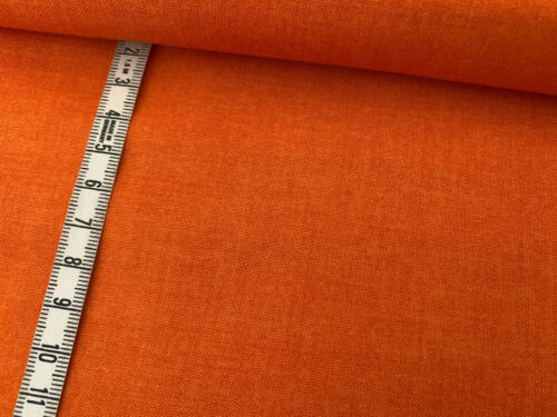 N 4 Linen Texture Orange Baumwollstoff Makower