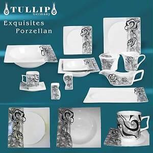 Geschirr 79 tlg Tafelservice Kaffeeservice Kombiservice Porzellan 12 Pers SELNE