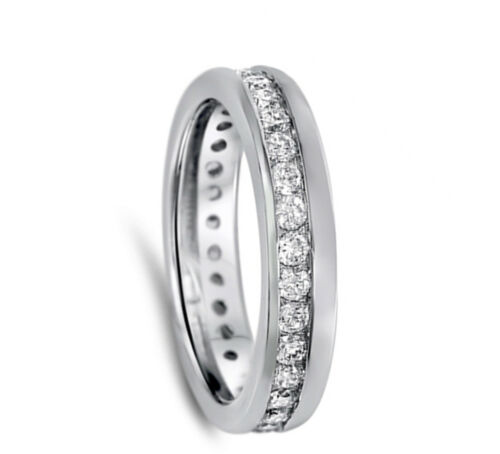Clear CZ Simple Polished Ring New .925 Sterling Silver Thumb Band Sizes 6-10