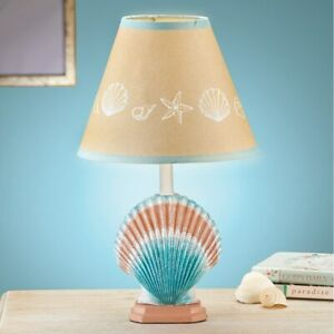 NEW Nautical Table Bedside Desk Lamp Coastal Beach House Paradise Home Decor
