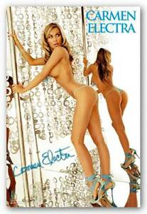 Details About Pinup Poster Carmen Electra Stripper Pole