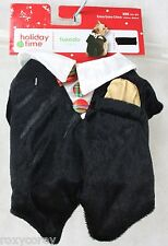Christmas Holiday Time Black Tuxedo Smoking Pet Dog Coat XXSmall 6-8 in NWT