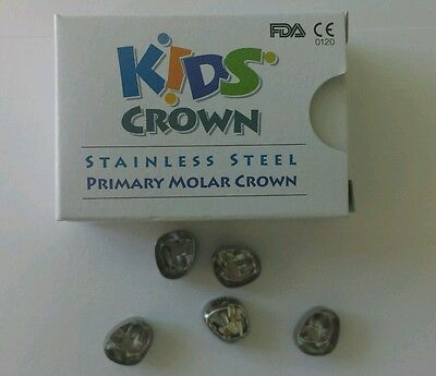 Stainless Steel Primary Molar Crowns All sizes Kids Crown 3M Compatible