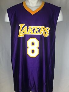 Details about Kobe Bryant #8 Los Angeles Lakers NBA Purple Throwback Rookie Jersey Men's LARGE