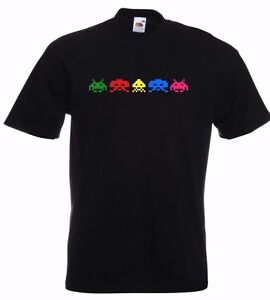 New-Retro-Classic-Video-Games-Gaming-Arcade-5-SPACE-INVADERS-funny-gift-T-SHIRT
