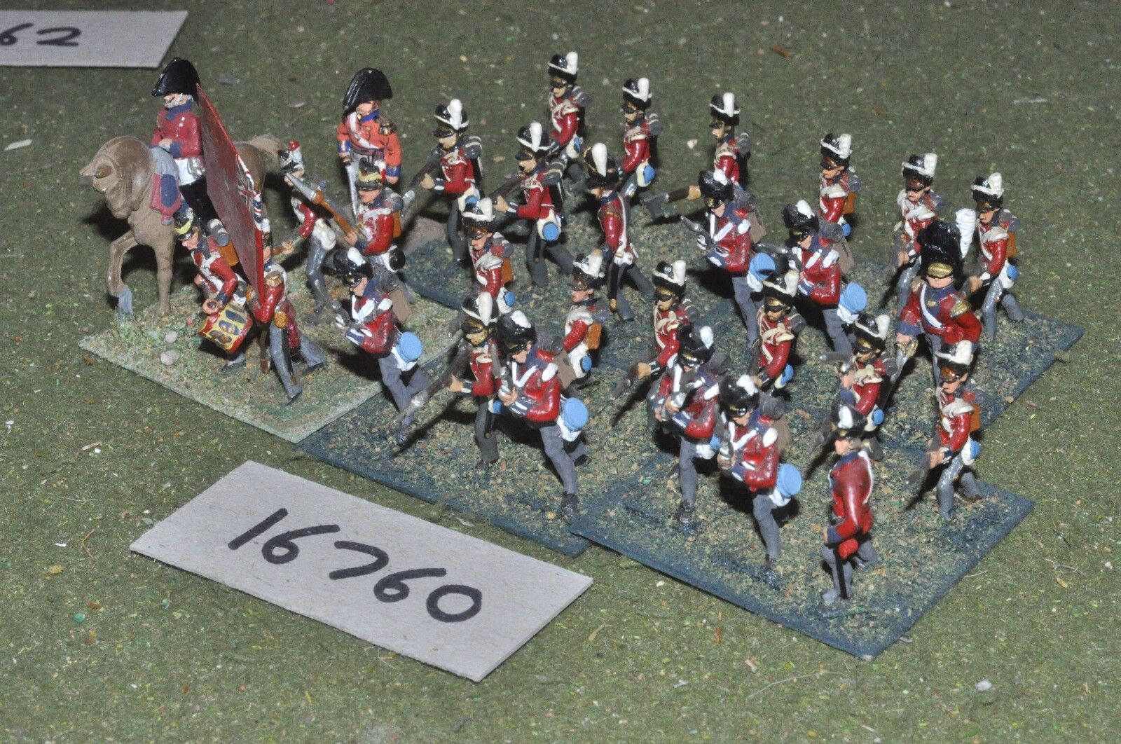 25mm napoleonic   british - infantry 30 figs - inf (16760)
