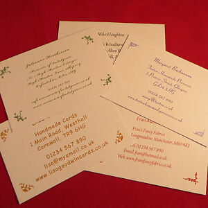 Personalised Business Cards For Crafters Stall Information Address