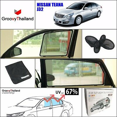 4 PCS SET SUN SHADE ASSEMBLY SET FIT FOR NISSAN TEANA J32 EMBEDDED MAGENT