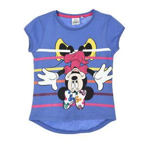 DISNEY-t-shirt-MINNIE-MICKEY-3-4-6-ou-8-ans-bleu-manches-courtes-NEUF