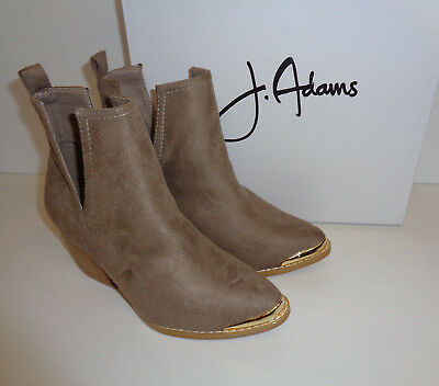 Ladies Western Ankle Boots Slip On Block Cut Out Metal Tipped New UK Sizes 3-8.5