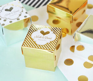 Image Is Loading 108 Personalized Rose Gold Foil Label Mini Cube