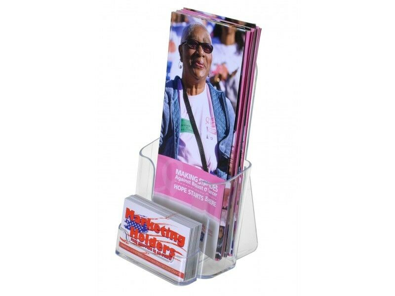 Lot of 12 Tri Fold Brochure Displays with Business Card Holder