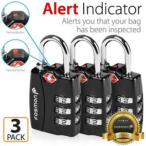 3xTSA-Approve-3-Digit-Combination-Travel-Suitcase-Luggage-Bag-Lock-Padlock-Reset