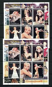 TURKMENISTAN-Marilyn-Monroe-Movies-Cinema-Mini-Sheet-MNH-x-2-DAB-683