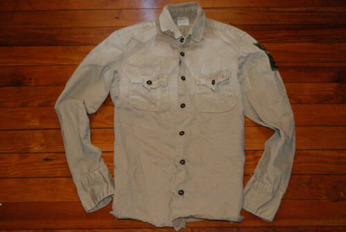 Men's True Religion Military Khaki Button Long Sle