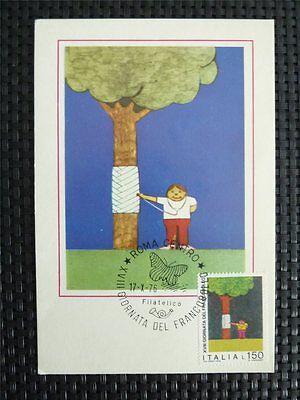 Motive Hart Arbeitend Italia Mk 1976 Tag Der Briefmarke Maximumkarte Carte Maximum Card Mc Cm C4885 Chinesische Aromen Besitzen Diverse Philatelie