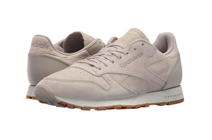 Scarpe casual da uomo  REEBOK BS7893 CL LEATHER SG Mn's (M) Sand Stone/Chalk-Gum Nubuck Lifestyle Shoes