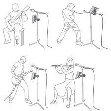 """Music Microphone Stand Holder Mount For 7""""-11"""" Tablet iPad 2 3 5 Sam Tab Nexus 7"""