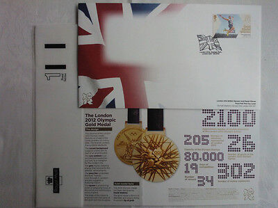 Sports Memorabilia Rare No Address,new Greg Rutherford Long Jump Olympics Fdc 5/8/2012 Gold