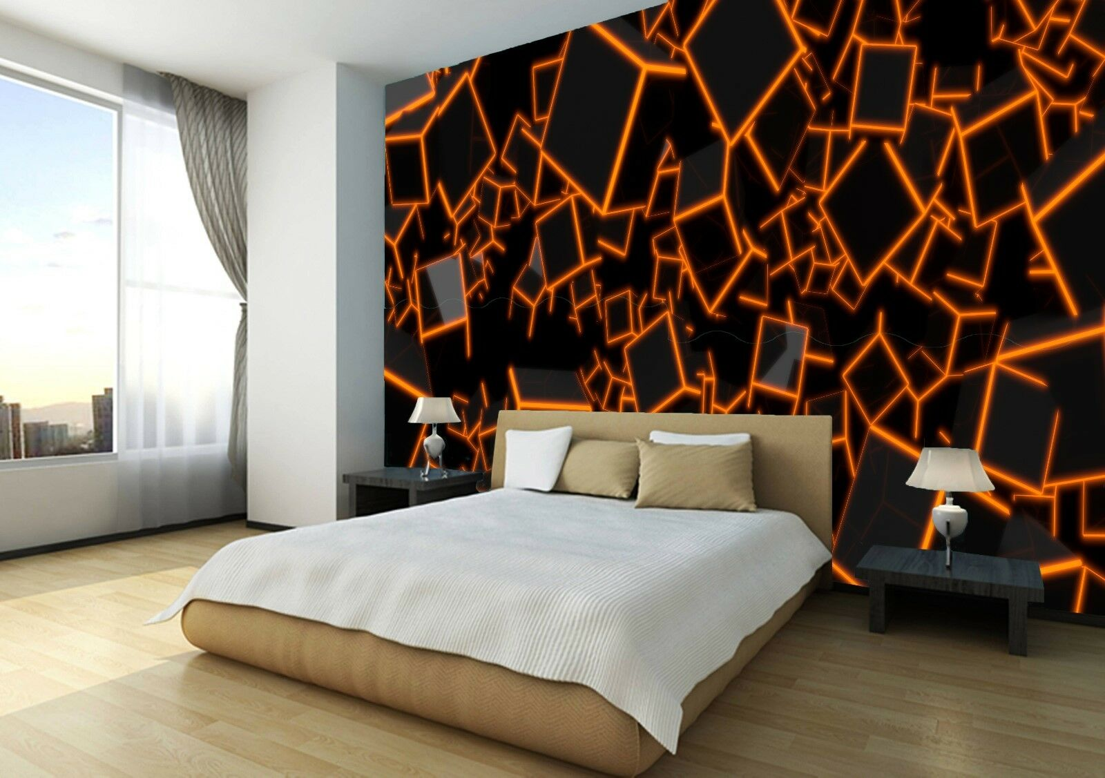 3D 3D 3D Cubes Colourful Wallpaper Photo Wall Mural Home Living Room Home Decoration 0ce5a5