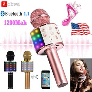 Wireless-Bluetooth-Karaoke-Microphone-Handheld-Mic-Speaker-Home-KTV-Player-BEST