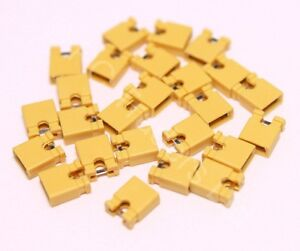 25x-2-54mm-Yellow-Jumper-Shunts-Bridges-Hard-Drive-DVD-Motherboards-Electronics