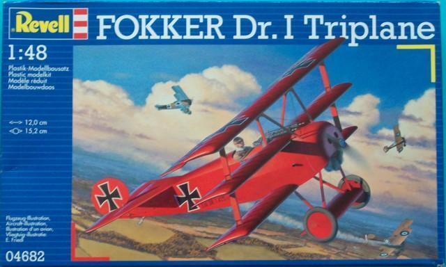 Revell Fokker Dr.I Triplan 1  48 skala -modellllerl ny i lådan