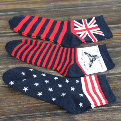 1 Pair Womens Flag Cotton Ankle Socks Fashion Casual High Quality,Size 9-11