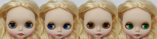 """Takara 12/"""" Neo Blythe  Golden Hair Matte Face Nude Doll from Factory TBY443"""