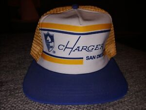 ed5f3566536e1 Image is loading San-Diego-Chargers-Snapback-Trucker-Mesh-Vintage-Rare-