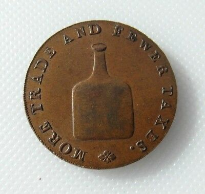 Edge Reads Richard Dinmore & Son Extremely Efficient In Preserving Heat Sunny Collectable Norwich Half Penny Token Bottle