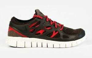 hot sale online 28f0b fa58e NEW NIKE FREE RUN (+2) NRG MEN'S SHOES #577182 200 BROWN RED WHITE 8 ...