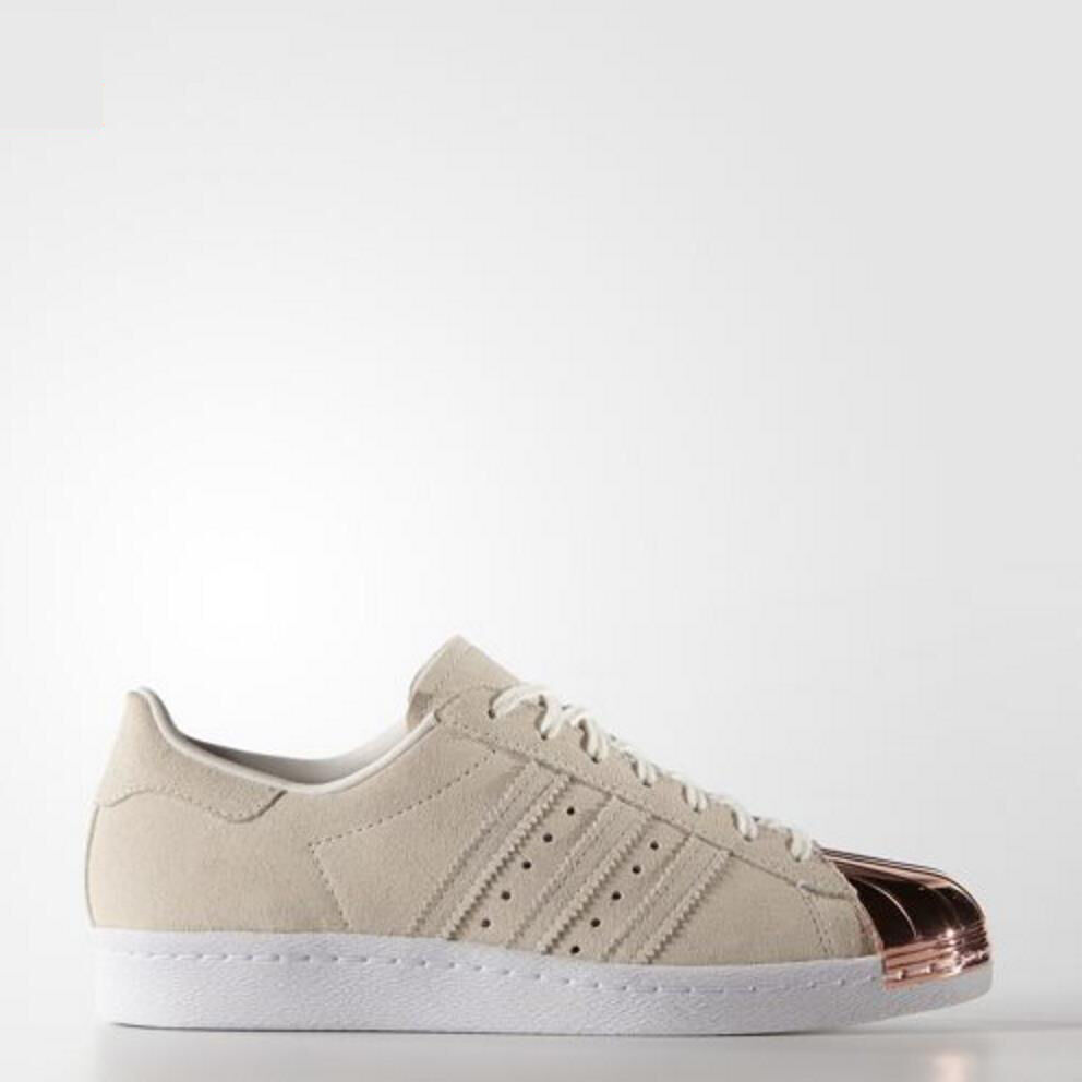 [Adidas] S75057 Women Superstar 80S Metal Toe White Sneakers Shoes