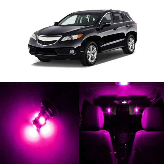 13 X Pink LED Interior Lights Package Kit For Acura RDX