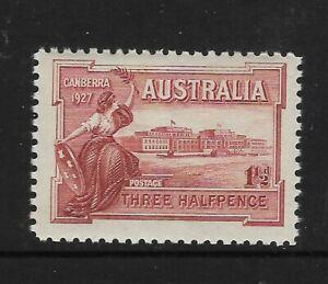 AUSTRALIA-1927-1-d-CANBERRA-PARLIAMENT-HOUSE-1v-MNH
