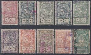 Latin America Good For Energy And The Spleen F-ex7323 Argentina Revenue Stamps Lot 1911-1913 Argentina