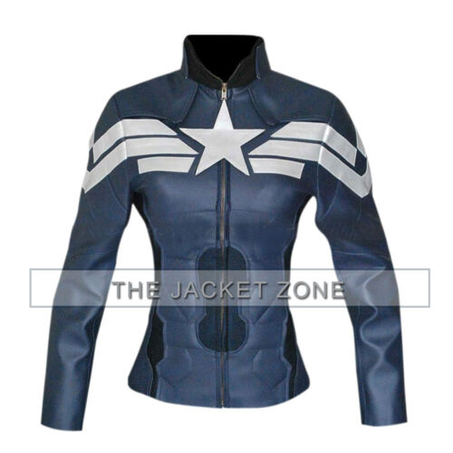 Shipping Jacket Winter Free Captain Soldier For With America Women FwFTq8Htx