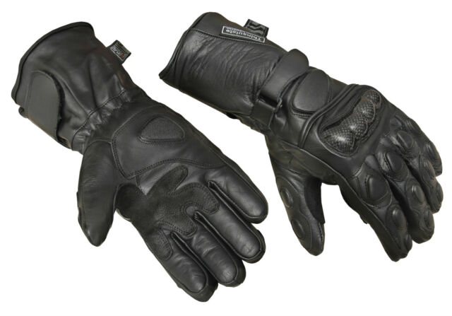 Motorbike Motorcycle Gloves Carbon Knuckle Protection Thermal Waterproof Winter