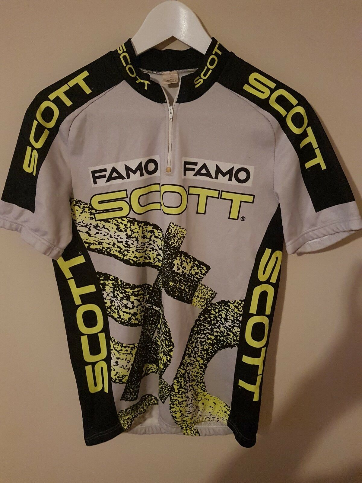 Maillot ciclismo mtb scott famo muy buen estado nos vintage size l