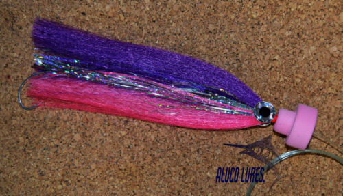 7-inch Pack of 3 Rigged Offshore Marlin//Tuna//Sailfish Tube Flies