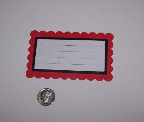 4 Journal Cards Premade PAPER Die Cuts Scrapbook /& Card Making