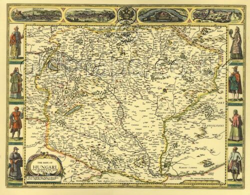 Speed 17c Hungary FULL SIZE PRINTED COPY Replica J Old Map A GREAT GIFT IDEA