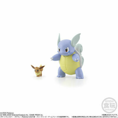 Scale World Bandai Pokemon Center Japan Wartortle /& Eevee Kanto 1st ed