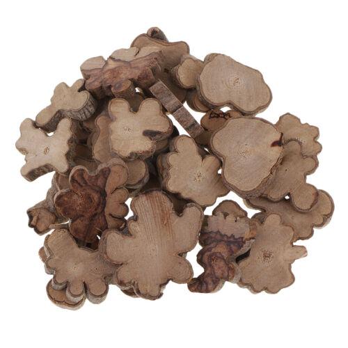 30 Stücke 20 40mm rustikale Holz Holz Log Scheiben natürliche Baumrinde,